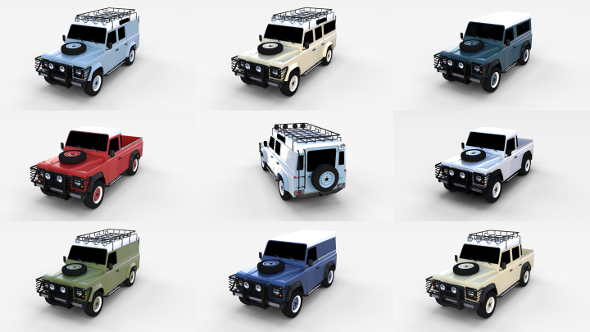 3DOcean Land Rover Defender Pack 19513860
