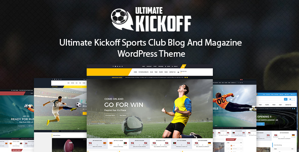 Ultimate Kickoff News Magazine WordPress Theme – Sports Club (Nonprofit)