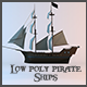 Low Poly Pirate Ships