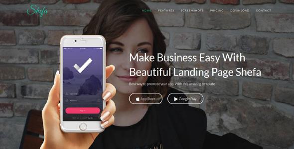 Shefa - Responsive App Landing Page