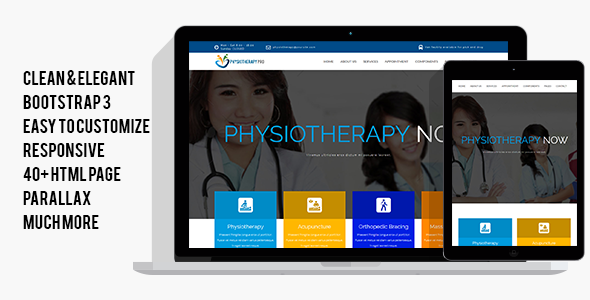 Download PhysiotherapyPro - Physiotherapy, Physiotherapist, Physiotherapy Clinic HTML Template