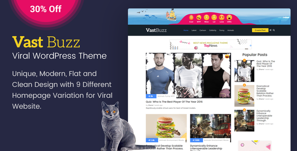 Vast Buzz – Viral & Buzz WordPress Theme (News / Editorial) images