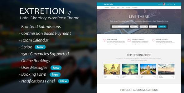 Extretion - Hotel Directory WordPress Theme