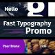 Fast Typography Promo