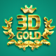 3D Gold Text Effect Photoshop Action