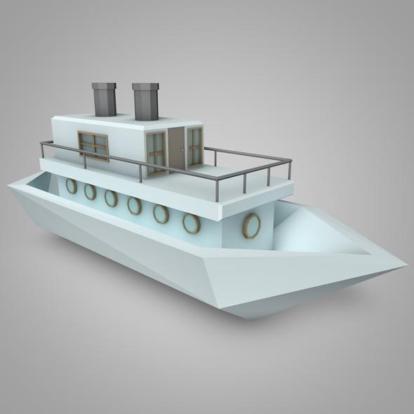 3DOcean LowPoly Boat 19515069