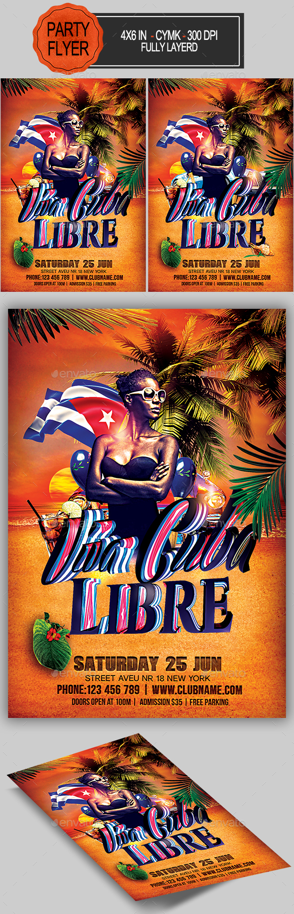 Graphicriver Viva Cuba Libre Flyer 19476317