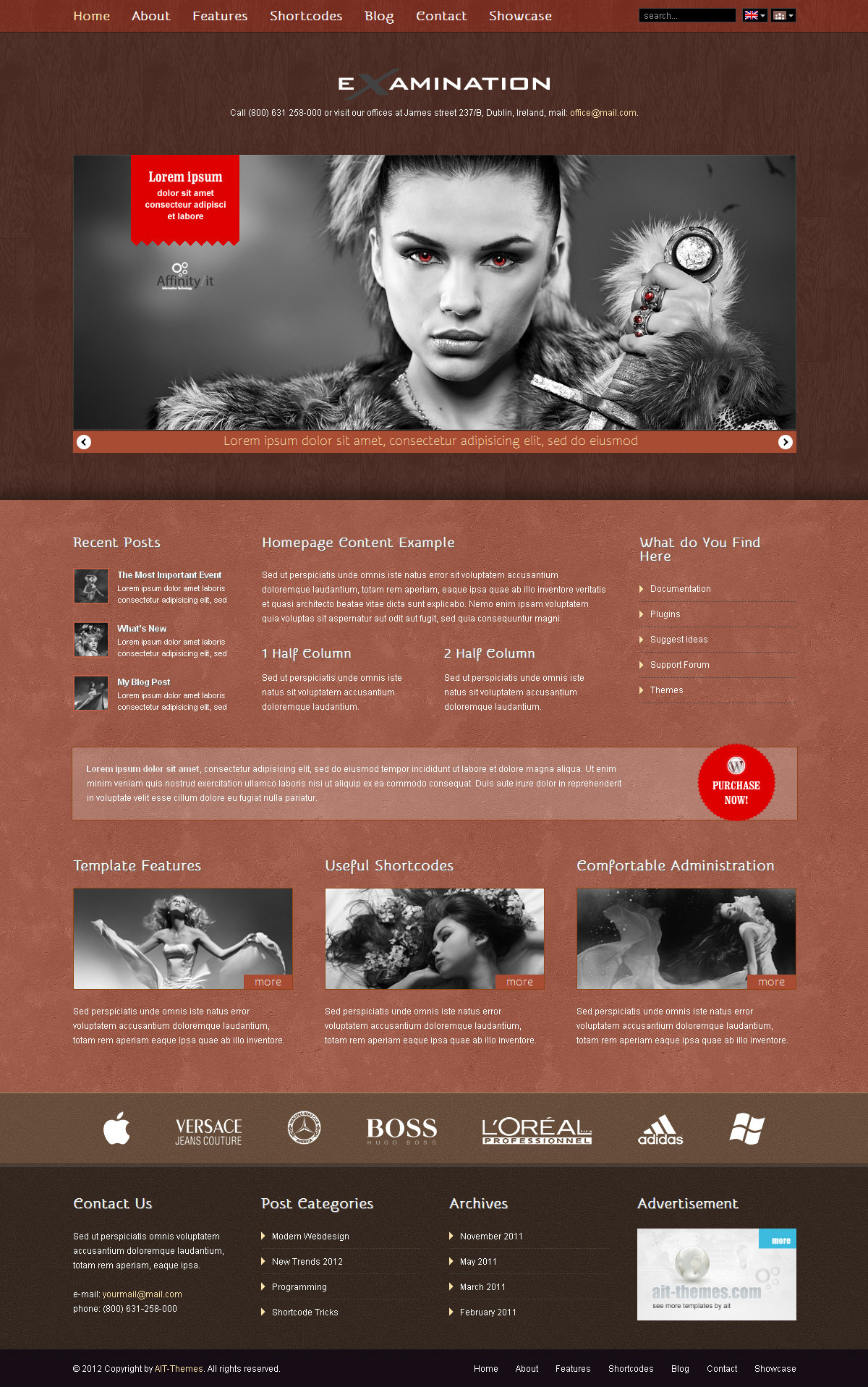 Examination Premium Corporate & Portfolio WP Theme