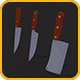 Low Poly Kitchen Knives Pack