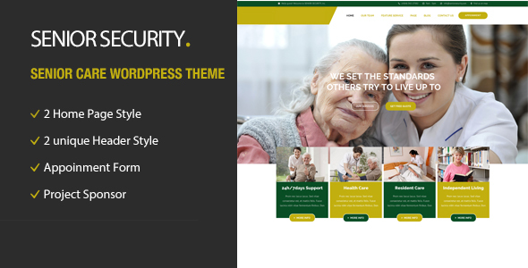 Download Senior Security - Senior Care WordPress Theme