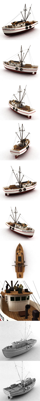 Boat fish - 3DOcean Item for Sale