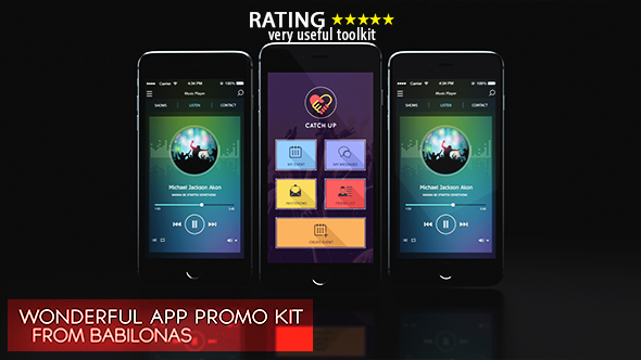 wonderful mobile app promo kit mobile after effects templates f5. Black Bedroom Furniture Sets. Home Design Ideas