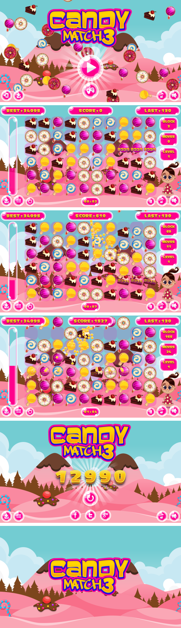Donut Crash Saga - HTML5 Game + Android + AdMob (Construct 3 | Construct 2 | Capx) - 3