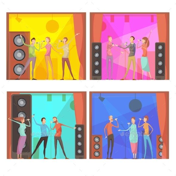Graphicriver Karaoke Party Compositions Set 19519174