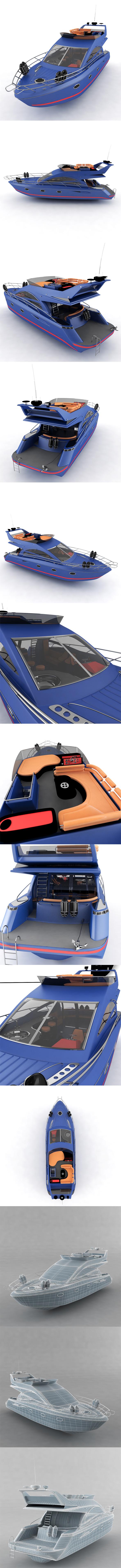 Yacht pleasure - 3DOcean Item for Sale