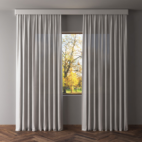 3DOcean Gray blackout curtains 19520065