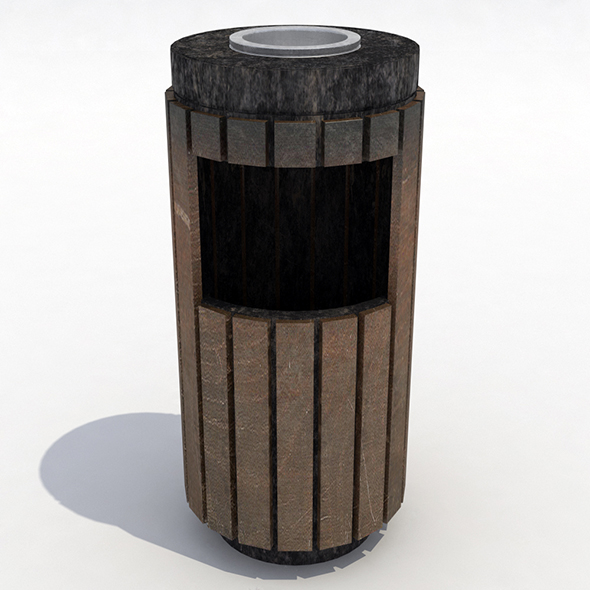 Strett trash can - 1 - 3DOcean Item for Sale