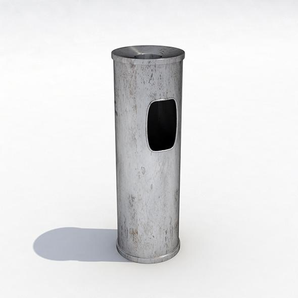 Street trash can - 3 - 3DOcean Item for Sale
