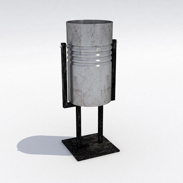 Street trash can - 7 - 3DOcean Item for Sale