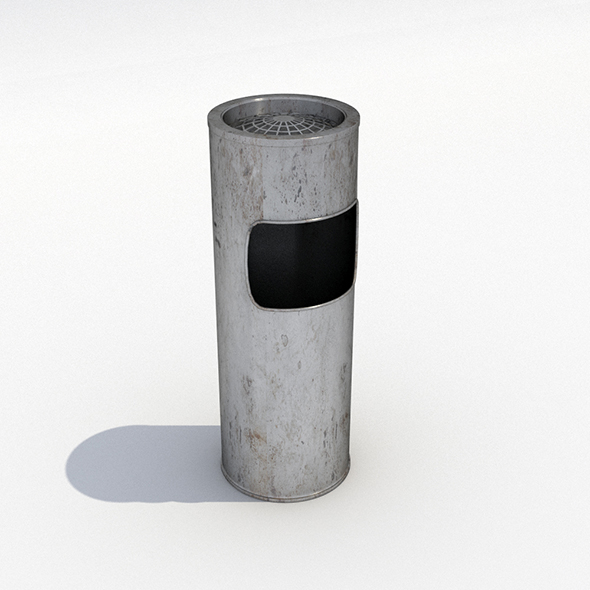 Street trash can - 11 - 3DOcean Item for Sale