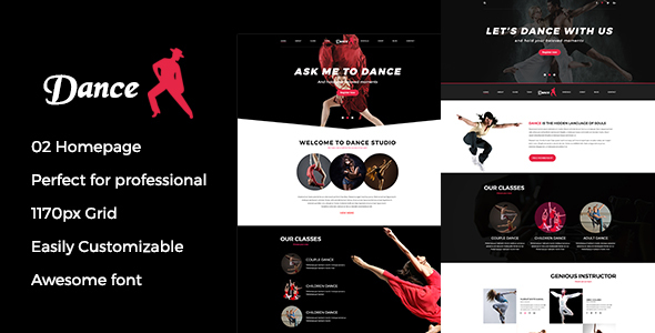 Dance psd template
