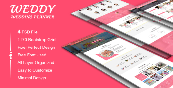 Weddy - Wedding Planner PSD Template