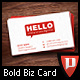 Bold Red Business Card - GraphicRiver Item for Sale