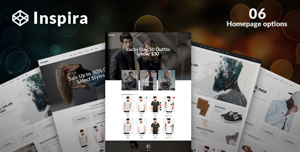 Фото Шаблон Wordpress  Inspira - Multipurpose Responsive WooCommerce WordPress Theme — 01 preview.  large preview