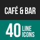 Cafe & Bar Line Icons