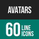 Avatars Line Icons