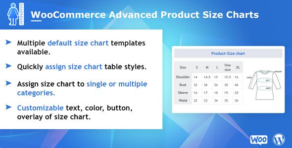 WooCommerce Advanced Product Size Charts