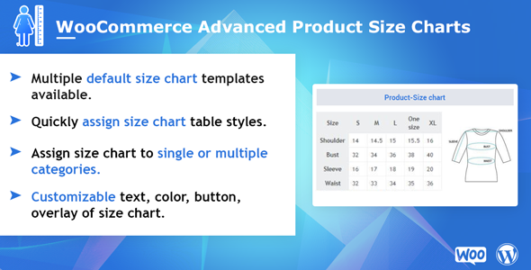 Advanced Product Size Chart for WooCommerce