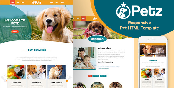 Download Petz - Responsive HTML Template