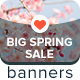 Big Spring Sale Ad Banners