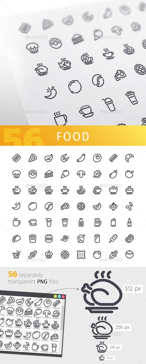 Graphicriver Food Line Icons Set 19523713