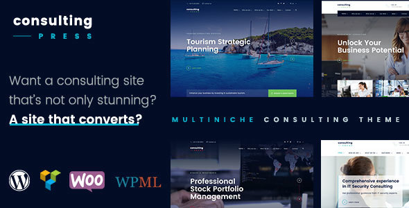 ConsultingPress - Multi Niche Consulting WordPress Theme