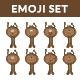 Cute Brownie Monster Set