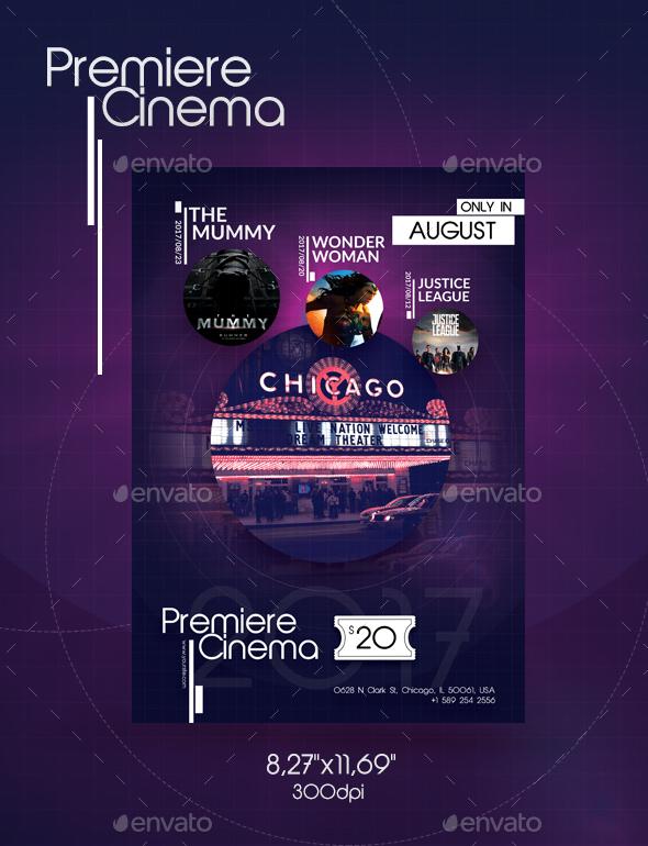 Graphicriver Premiere Cinema Flyer 19524327