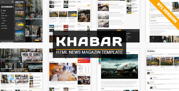KHABAR – News Magazin Template (Entertainment)