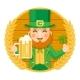 Leprechaun Saint Patrick Day Celebration Clover
