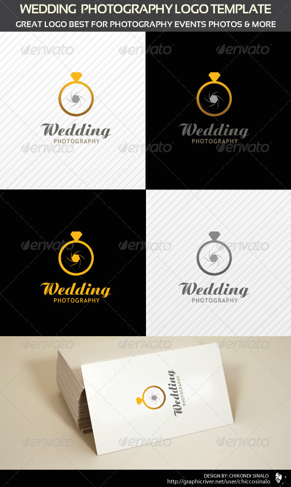 Wedding Photography Logo Template - Abstract Logo Templates