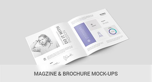 Magazine & Brochure Mock-Ups