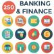 Banking and Finance Flat Circle Icons