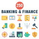 Banking and Finance Flat Icons