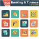 Banking and Finance Square Rounded Icons