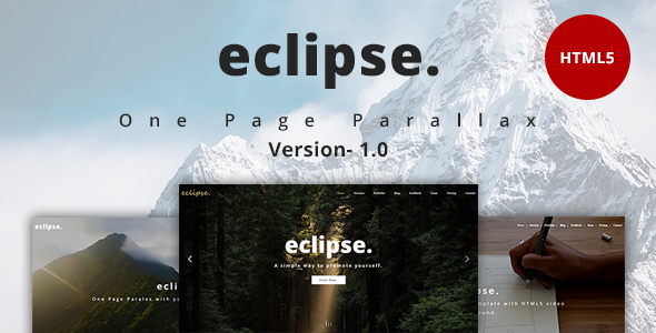 eclipse. - One Page Multipurpose Template