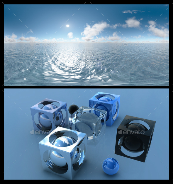 3DOcean Ocean Blue Clouds 13 HDRI 19527414