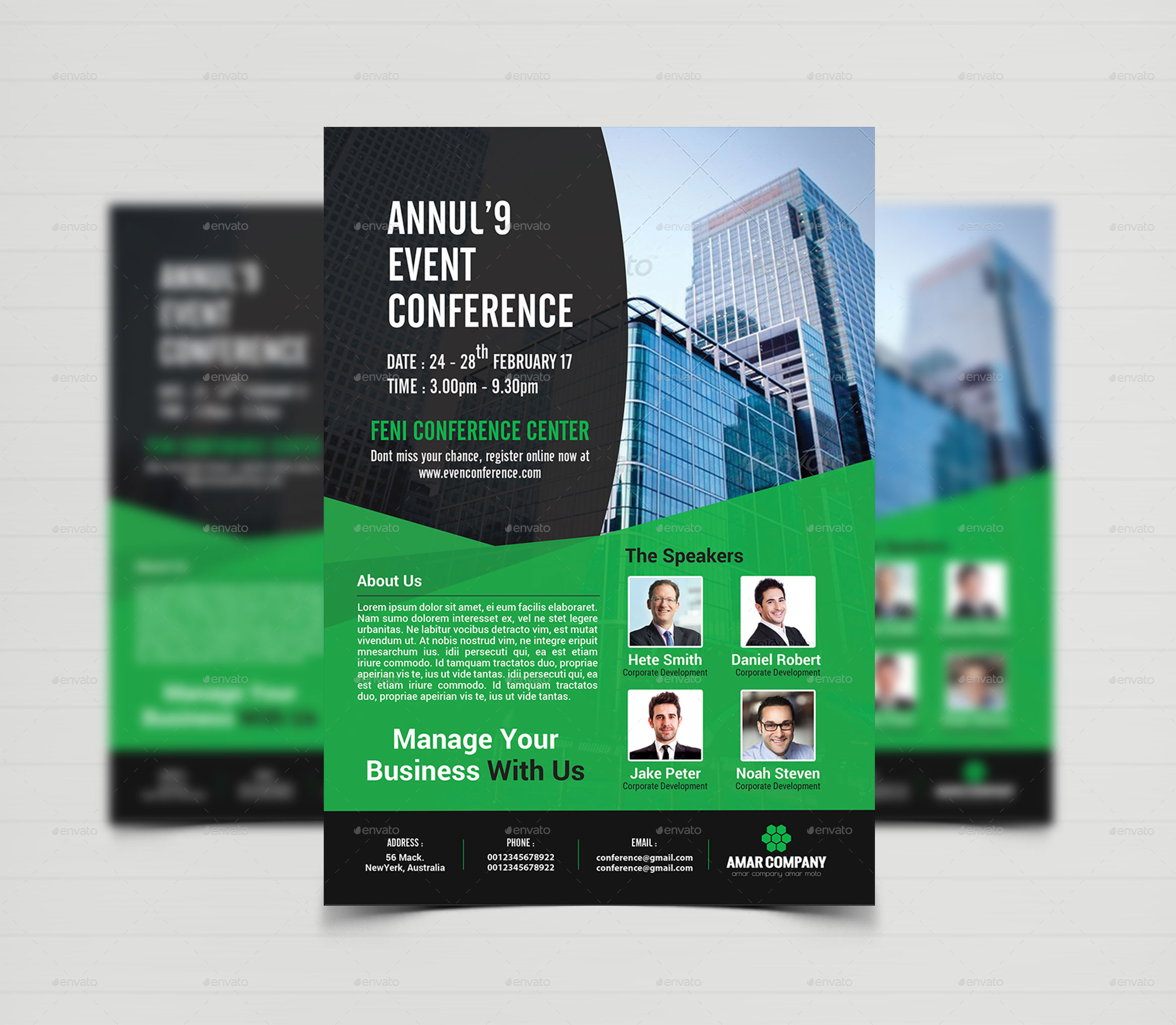 Event Summit Conference Flyer Template by CreativeTouch – Conference Brochure Template