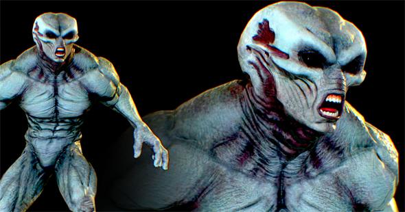 Realistic Alien 10 - 3DOcean Item for Sale