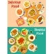 Meat, Soup, Potato Dishes Icon Set for Food Design